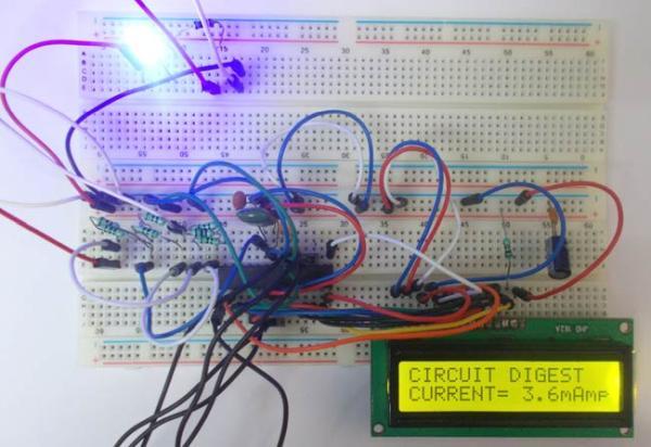 100mA Ammeter using AVR Microcontroller