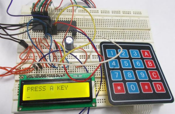4x4 Keypad Interfacing with ATmega32 Microcontroller