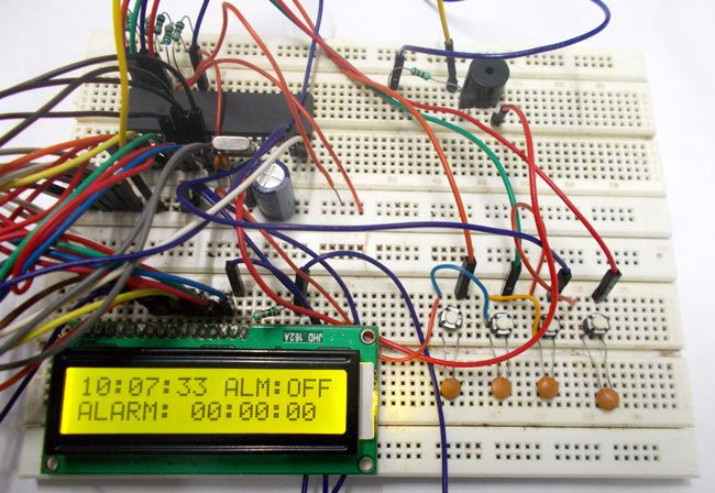 Alarm Clock using ATmega32 Microcontroller