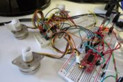 Drive a stepper motor with acceleration and deceleration using an Allegro driver on ATmega8
