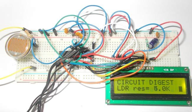 Light Intensity Measurement using LDR and AVR Microcontroller