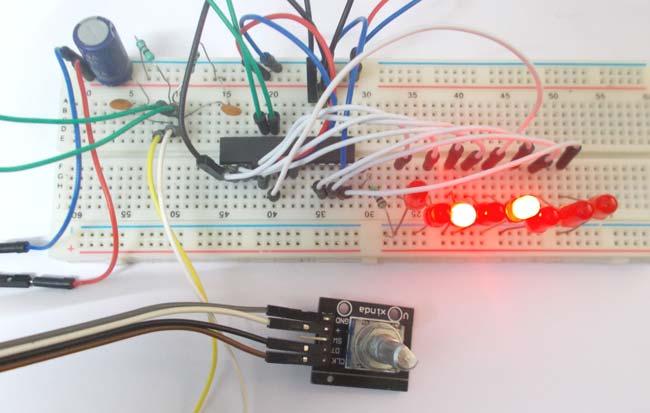 Rotary Encoder Interfacing with ATmega8 Microcontroller