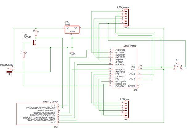 Schematic AVR HVSP Fuse Resetter