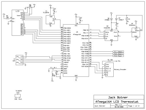 Schematic AVR Thermostat