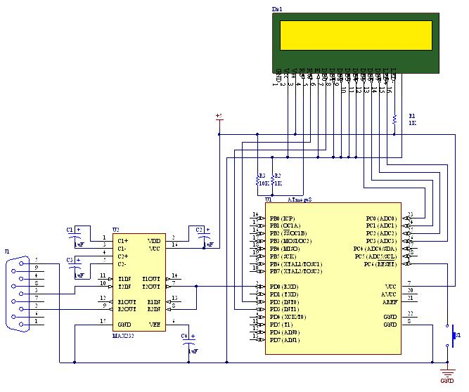Schematic How to Establish A PC-Micro controller USART communication