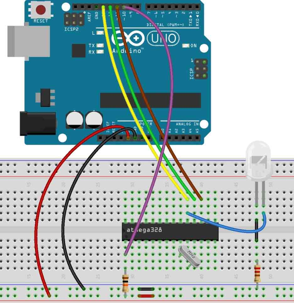 Schematic Make Your Own Homemade Arduino Board with ATmega328 Chip