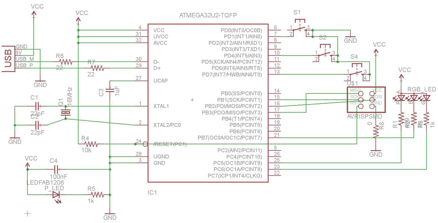 Schematic Weeks 11-12 AVR USB Devices and Programming
