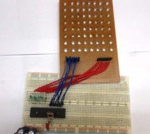 Scrolling Text Display on 8×8 LED Matrix using AVR Microcontroller
