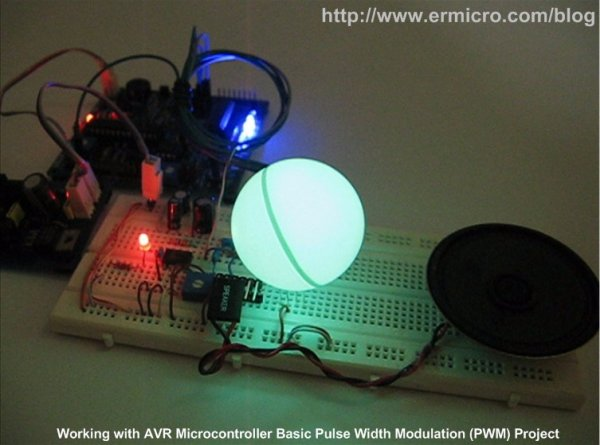 Working with Atmel AVR Microcontroller Basic Pulse Width Modulation (PWM) Peripheral