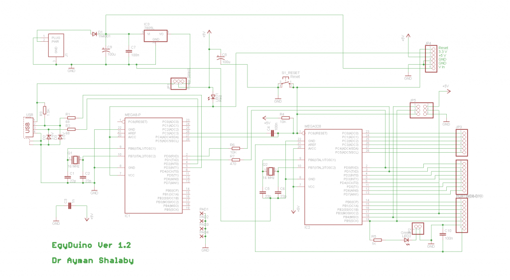 schematic EGYDuino Arduino compatible board