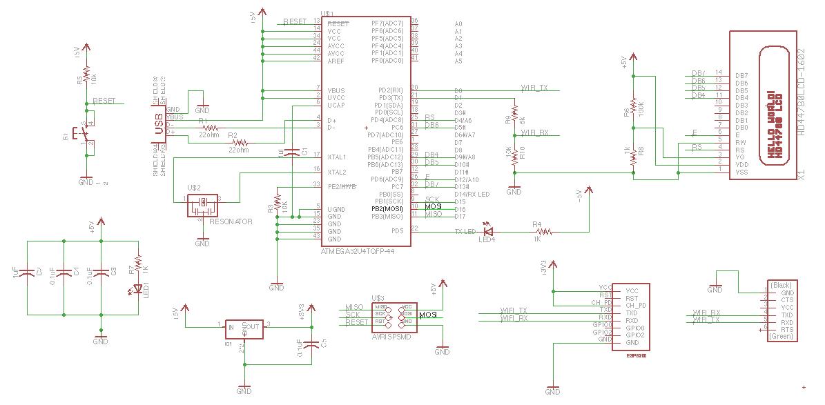 schematic Week 11 Networking with ESP8266