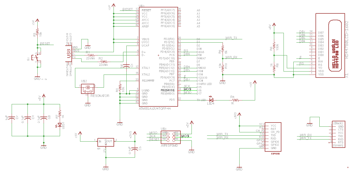 schematic Week 11 Networking with ESP8266