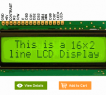 16×2 LCD interface with microcontroller