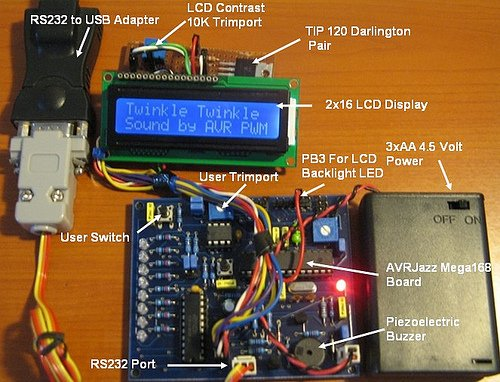 AVR Twinkle Twinkle Using PWM Project