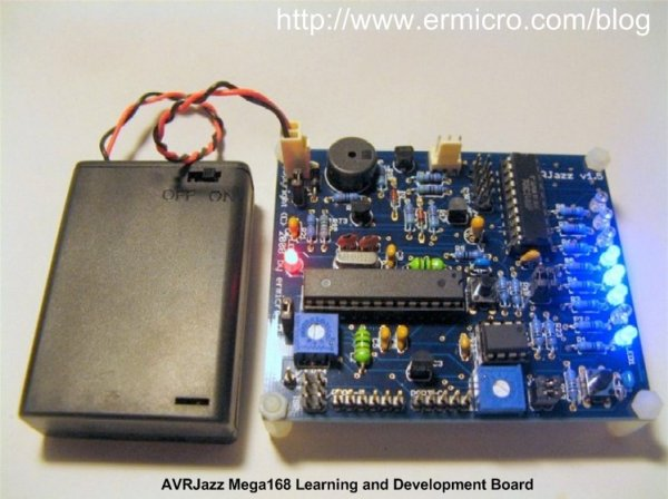 AVRJazz Mega168-328 Learning and Development Board
