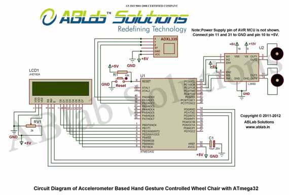 3-axis Accelerometer Sensor-ADXL335 Interfacing with ATmega32