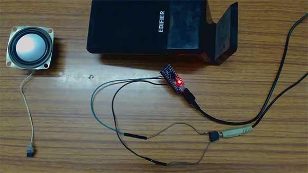 Atmega 32u4 Based USB Speaker