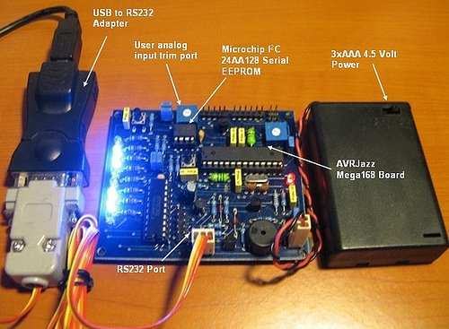 The LED Chasing Effect Project using Atmel AVR Microcontroller