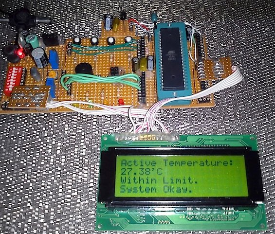 Intelligent temperature monitoring and control system using AVR microcontroller