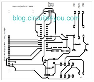 Layout AVR Microcontroller based Temperature Monitoring and Control System