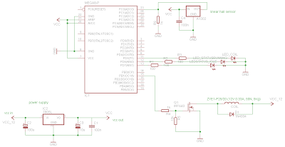 Schematic An AVR Atmega based PID magnetic levitator