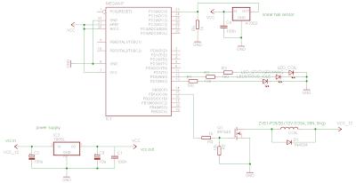 Schematic An AVR Atmega based PID magnetic levitator