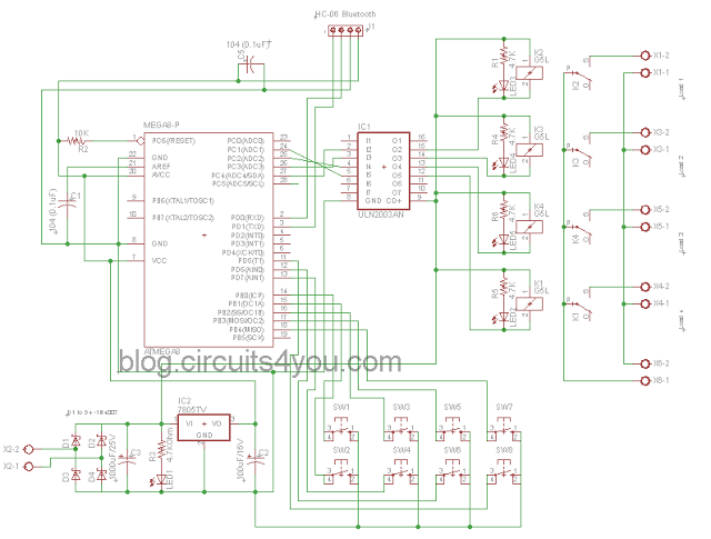 Schematic Bluetooth based home automation