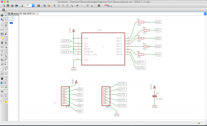 Schematic Capacitive Touch with Atmel's AT42QT1070 Touch Sensor IC