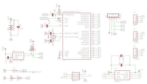 Schematic DevDuino Sensor Node V4.0 (ATmega 328)
