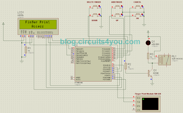 Schematic Fingerprint based security system