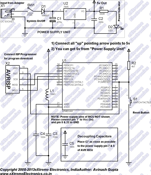 Schematic Microwave Controller using ATmega8 – AVR Project