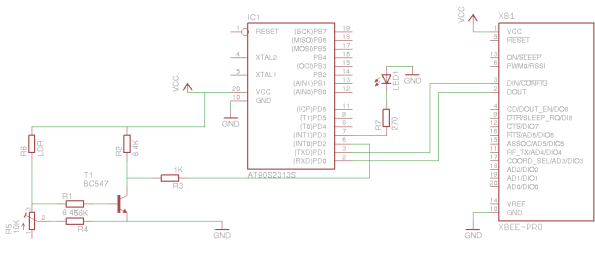Schematic Updating electricity meter to communicate via WLAN