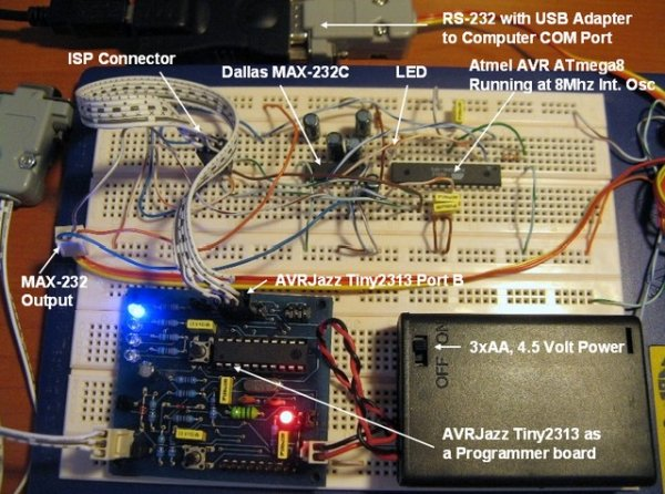 Working with AVR microcontroller Communication Port Project