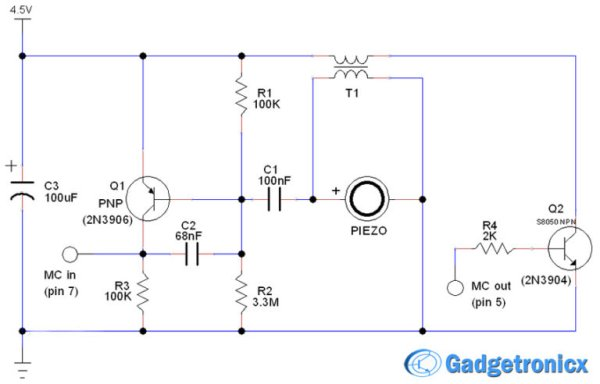 Door - Window alarm circuit