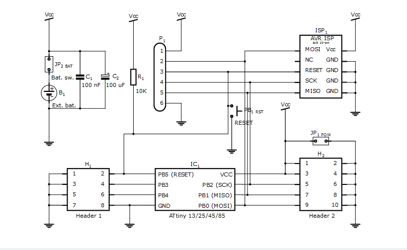 Schematic The Tinusaur Project