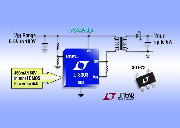 100Vin, 5W out regulator uses primary-side control