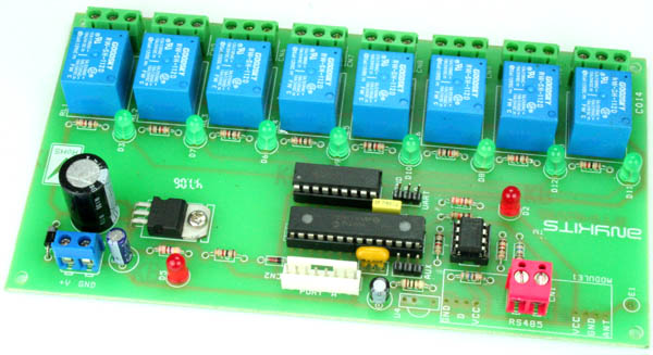 8 Channel RS485 Relay Board
