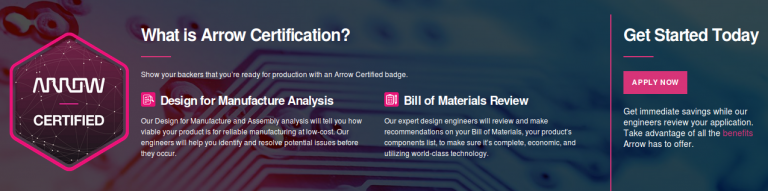 Arrow Certification Makes Your Next Product Crowd-funding On Indiegogo-Easier