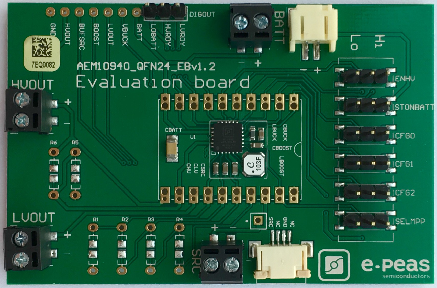 Board AEM10940, A High Efficient Power Management IC From e-peas