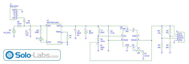 Circuit DIY USB 5V Solar Power Bank