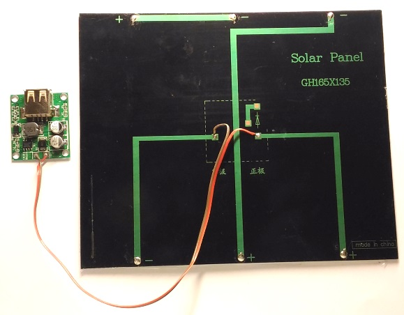Connections between the 5V buck converter and solar panel