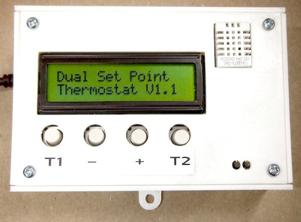 Dual set point programmable thermostat