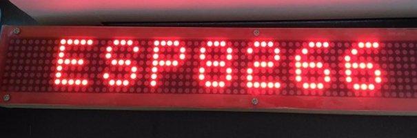 ESP8266 Wifi enabled 8×64 pixel LED matrix display