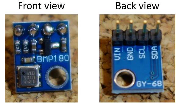 Introducing the BMP180 barometric sensor