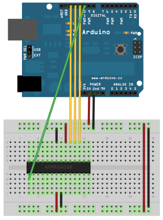 Schematic Arduino Without External Clock Crystal on ATmega328