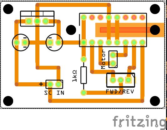 Schematic L293D Motor Direction Control for Under $2.20