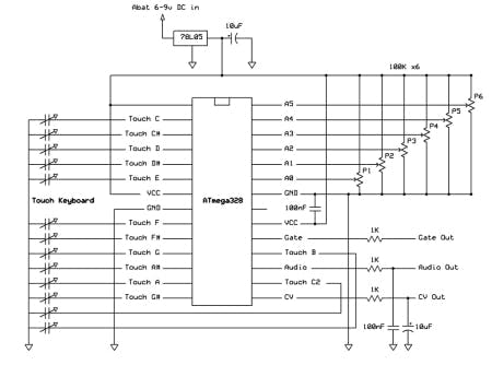 Schematic An open-source DIY touch synthesizer