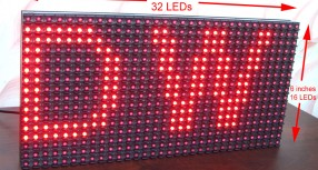 P10 LED Display Panel Interface with AVR ATmega8