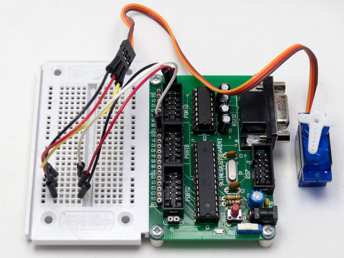 Dc motor speed control using pwm atmega32 avr for Servo motor with controller