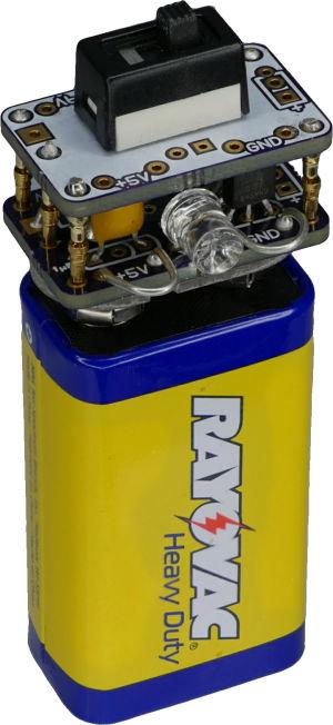 5V Regulator Cap for 9V battery